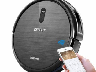 ECOVACS DEEBOT N79 Robotic Vacuum Cleaner with Strong Suction, for Low-pile Carpet, Hard floor, Wi-F