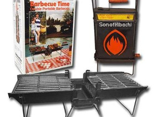 Mr. Flame, Portable Vintage Cast Iron Charcoal Grill