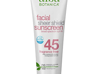 Alba Facial Sheer Shield Sunscreen SPF 45, 2oz