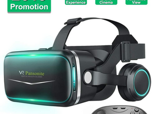 Pansonite Vr Headset with Remote Controller[New Version], 3D Glasses Virtual Reality Headset