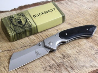 Buckshot Thumb Open Spring Assisted Stainless Steel Handle With Inlay Classic Razor Pocket Knife
