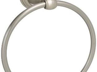Delta Faucet  Windemere Towel Ring,                       SpotShield Brushed Nickel