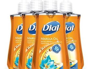 Dial Liquid Hand Soap, Marula Oil, 7.5 Fluid Ounce, Pack of 4