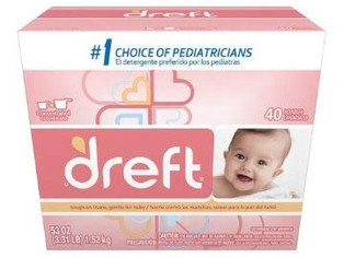 Dreft Baby Original Scent Powder Detergent 40 Loads 53 OZ