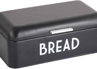 Home Basics Grove Bread Box For Kitchen Counter Dry Food Storage Container,