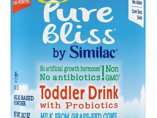 Pure Bliss by Similac Toddler Drink with Probiotics, Starts With Fresh Milk From Grass-Fed Cows, Non