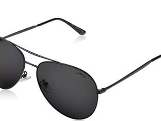 LUENX Aviator Sunglasses Men Women Non-Mirror Polarized UV400 Metal Frame 60MM