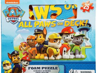 Gift Item Paw Patrol Foam Floor Puzzle by Cardinal (25 Piece), Multicolor