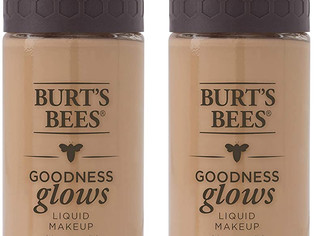 Burts Bees Goodness Glows Liquid Makeup, Almond Beige - 1.0 Oz, - Pack of 2