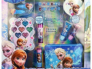 Townley Girl Disney Frozen Beauty Kit, Lip balms, glosses, press on nails, gems, stickers, barrettes