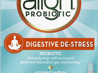 Align Probiotic, Digestive De-stress, Probiotic with Ashwagandha, which Helps with a healthy respons