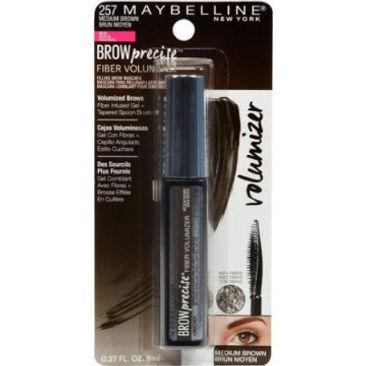 c92dbbfc74a Maybelline Brow Precise Fiber Volumizer Eyebrow Mascara, Medium Brown, 0.27  oz.