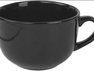 Home Basics 22 oz Extra Large Ceramic Jumbo Soup or Coffee Mug, Hot or Cold Beverage,