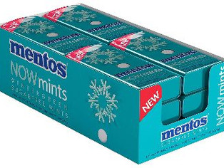 Mentos NOWMint Tin, Wintergreen, Halloween Candy,  (Pack of 12)
