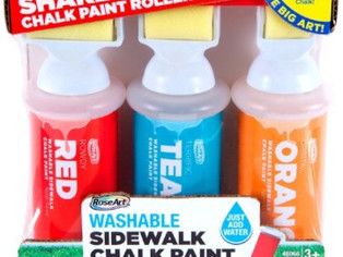 Rose Art Sidewalk Chalk Paint Shake N Roll Painters 3ct