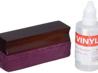Record Cleaning Kit with Cleaning Solution and Plush Velvet Pad