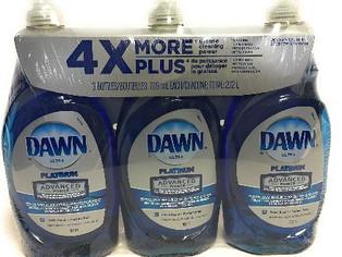 Dawn Dish Soap, Ultra Platinum Advanced Power - 3 Pack