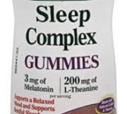Nature's Bounty Sleep Complex Gummies 60ct, 3 millgrams Melatonin, 200 milligrams L-Theanine Gum