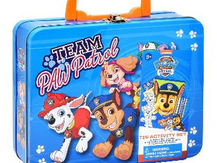 PAW Patrol Coloring and Activity Tin Box, Includes Markers,