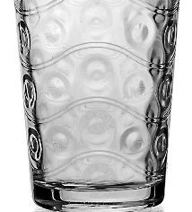 Circleware 40170 Cosmo Set of 4 Heavy Base Highball Drinking Glasses Tumblers, 15.7 oz,