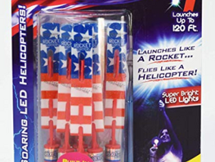Rocket Copters Slingshot Led Mini Light Up Helicopters