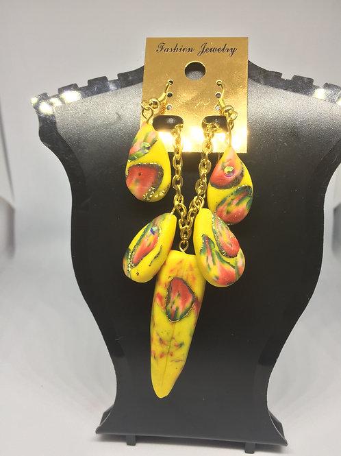 Lemon Drops Earring and Necklace Set
