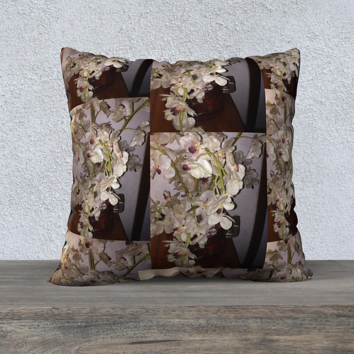 Clementine Orchids Pillow