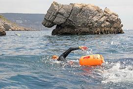 Swimming at Ribeira do Cavalo Beach