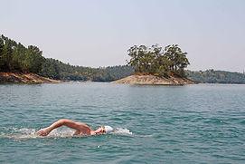 A-beginner-swimmer-on-his-first-open-wat