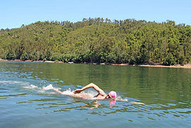 Swimmer-without-wetsuit-swimming-down-th