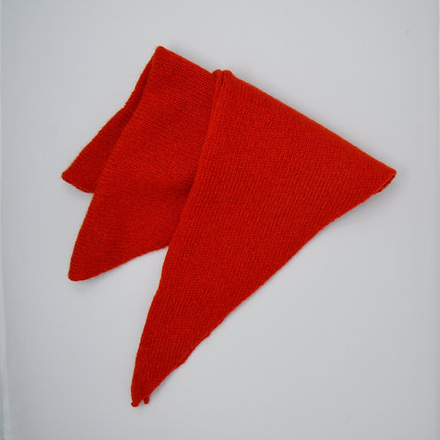Bright  Red triangle scarf