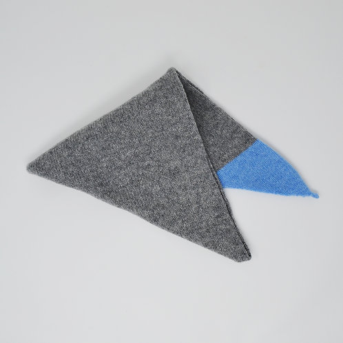 Grey triangle scarf