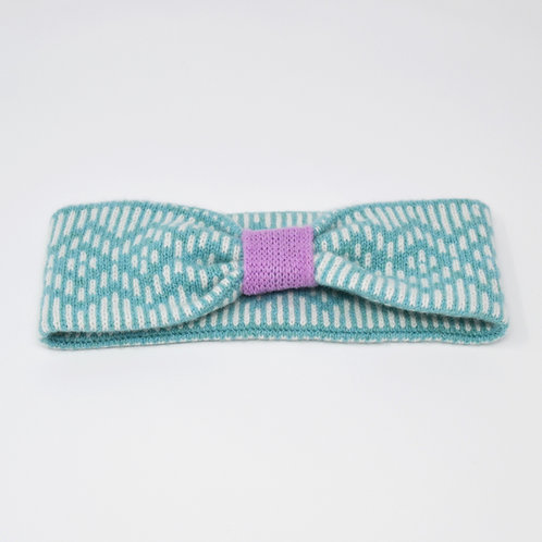 """Dundee""Dundee  Graphics ""pattern headband in mint blue and pink"