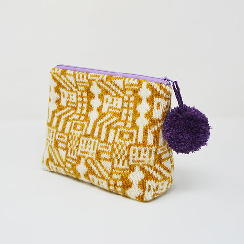 "Mustard, White "" Lego"" collection purse"