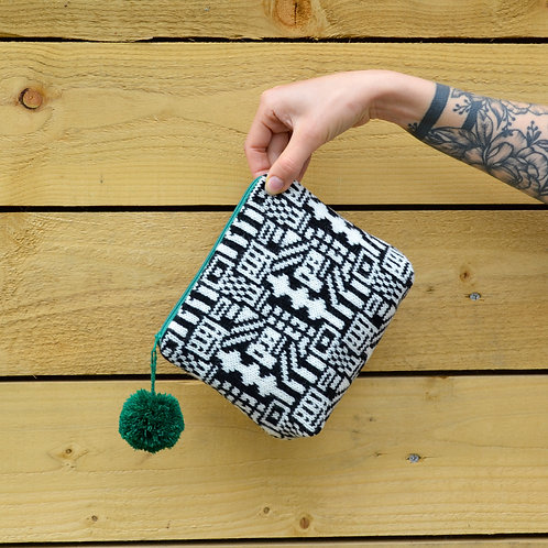 """Black and white """"Lego"""" collection purse"""