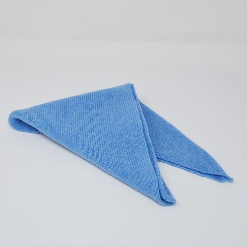 Extra soft Light Blue triangle scarf