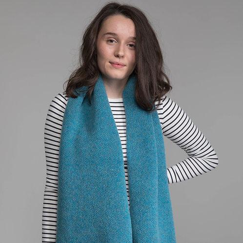 Azure blue Lambswool scarf
