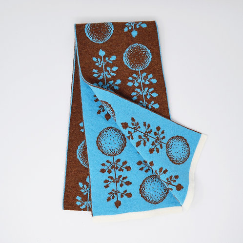 Green planet Design in Brown, Blue with white edge