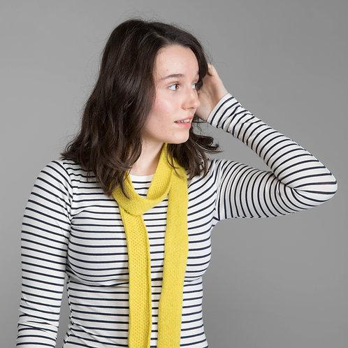 Yellow skinny scarf