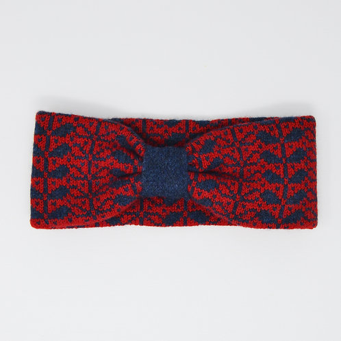 Red,Galaxy headband with flora pattern
