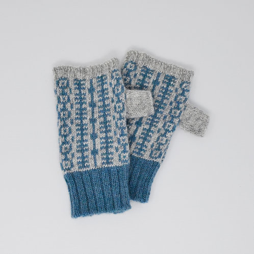 Grey/blue gloves