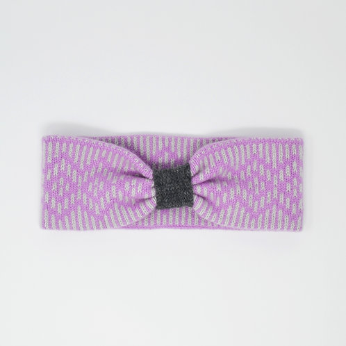 """""""Dundee Graphics """"pattern headband in pink and grey"""