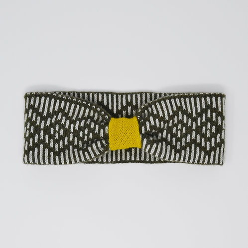 """Dundee""Dundee  Graphics ""pattern headband in Loden green and yellow"