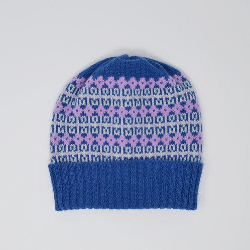 """""""Heritage"""" Dark Blue, pink hat"""