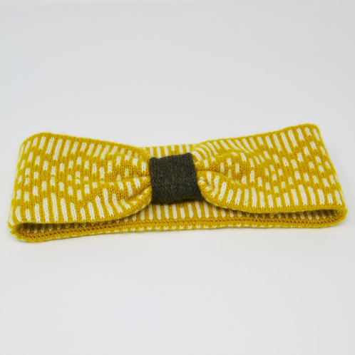 """""""Dundee Graphics """"pattern headband in Yellow, loden green"""