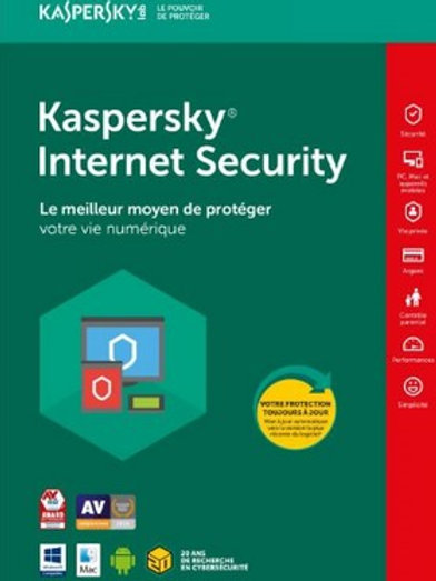 Kaspersky Internet Security 1 an - 1 PC