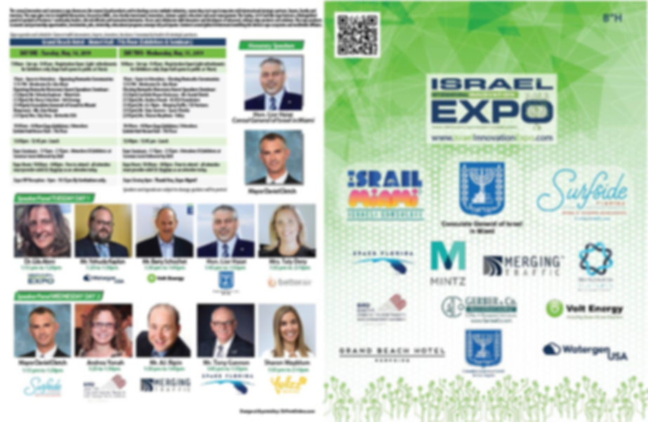 Israel Inovation Expo Surfside FL Speake