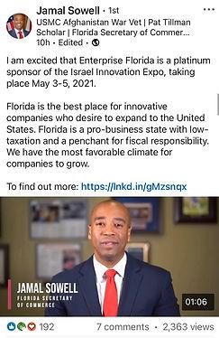 Mr. Jamal Sowell - Israel Innovation Exp