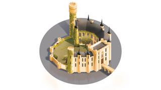 kasteel wijnendale illustratie