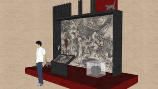 de heksen van Bruegel expo 3d tekening